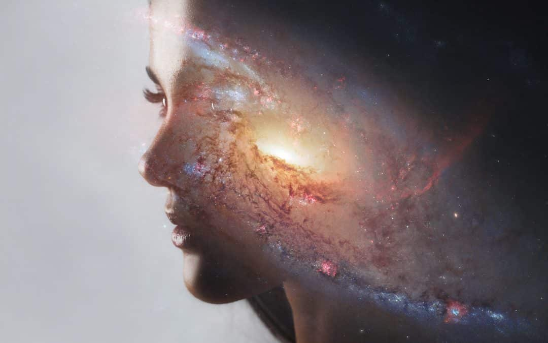 The universe inside us, the profile of a young woman and space, the effect of double exposure. scientific concept. The brain and creativity. Elements of this image furnished by NASA. What is self mastery?