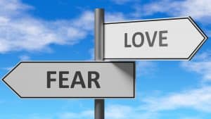 fear love road signs