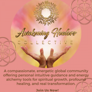 two hands opened to the universal light, awakening healers collective, join us now